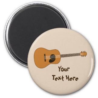 Acoustic Guitar 6 Cm Round Magnet