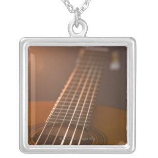 Acoustic Guitar 7 Silver Plated Necklace