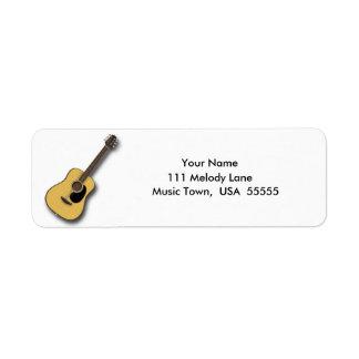Acoustic Guitar Address Label