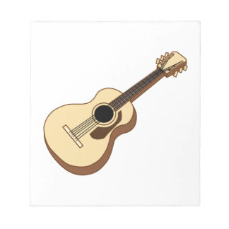 acoustic guitar art notepad