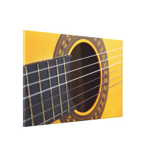 Acoustic Guitar Background Gallery Wrap Canvas