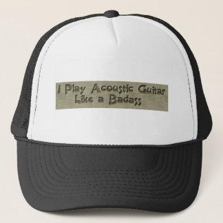 Acoustic Guitar Badass Trucker Hat