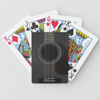 Acoustic Guitar Black Bicycle Playing Cards