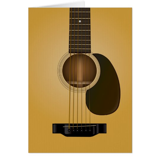 Acoustic Guitar Blank greeting card