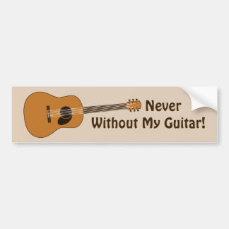 Acoustic Guitar Bumper Sticker