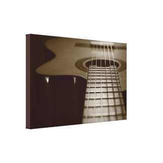 Acoustic Guitar Gallery Wrapped Canvas