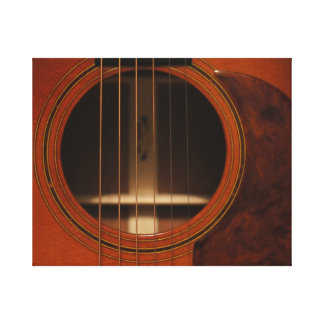 Acoustic Guitar Canvas Stretched Canvas Print