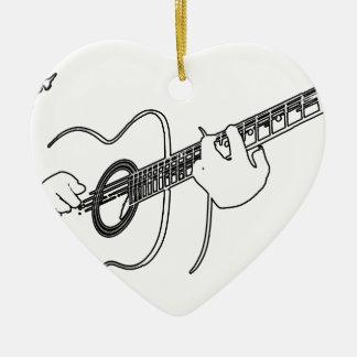 acoustic guitar christmas ornament