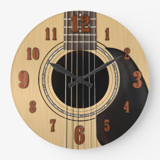 Acoustic Guitar Clock w/ Numbers