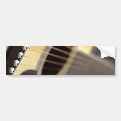 Acoustic guitar closeup photo bumper sticker