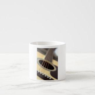 Acoustic guitar closeup photo espresso mug