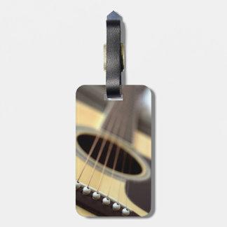 Acoustic guitar closeup photo luggage tag