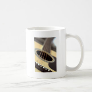 Acoustic guitar closeup photo mug
