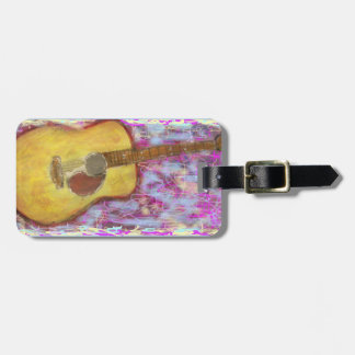 Acoustic Guitar Colours Luggage Tag