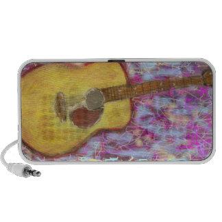 Acoustic Guitar Colours Laptop Speaker