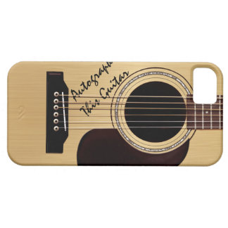 Acoustic Guitar Custom Autograph Case For The iPhone 5