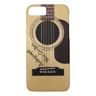 Acoustic Guitar Custom Autograph iPhone 8/7 Case
