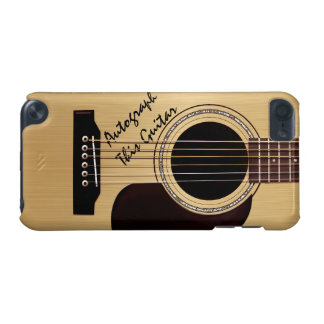 Acoustic Guitar Custom Autograph iPod Touch 5G Cases