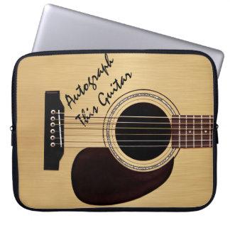 Acoustic Guitar Custom Autograph Laptop Sleeve