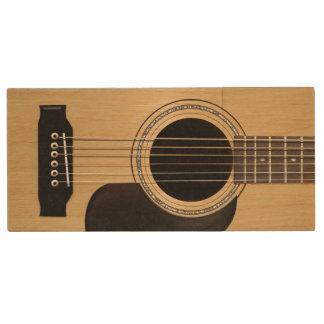 Acoustic Guitar Custom Wood USB Flash Drive