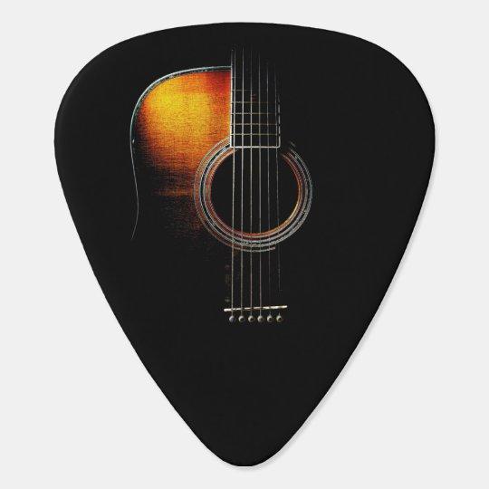 Acoustic Guitar Design Plectrum Version 4