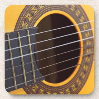 Acoustic Guitar Detail Beverage Coasters