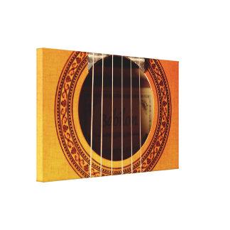 Acoustic Guitar Detail Gallery Wrap Canvas
