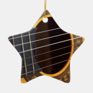 Acoustic Guitar Detail Ceramic Star Decoration