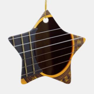 Acoustic Guitar Detail Christmas Tree Ornament
