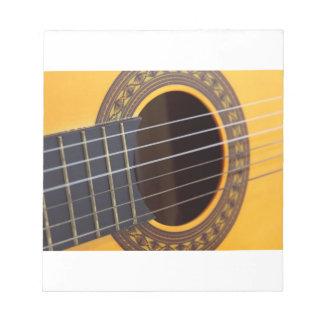 Acoustic Guitar Detail Note Pad