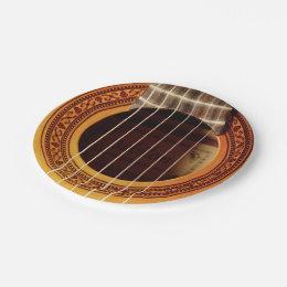 Acoustic Guitar Detail Paper Plate  sc 1 st  Zazzle & Acoustic Guitars Plates | Zazzle.co.uk