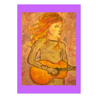 acoustic guitar drawing business card