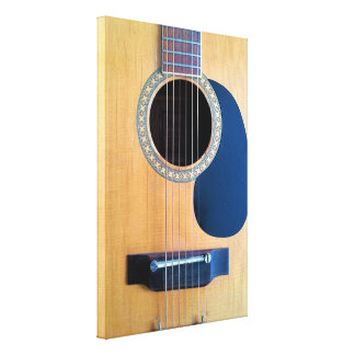 Acoustic Guitar Dreadnought 6 string Gallery Wrap Canvas