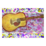Acoustic Guitar Drip Painting