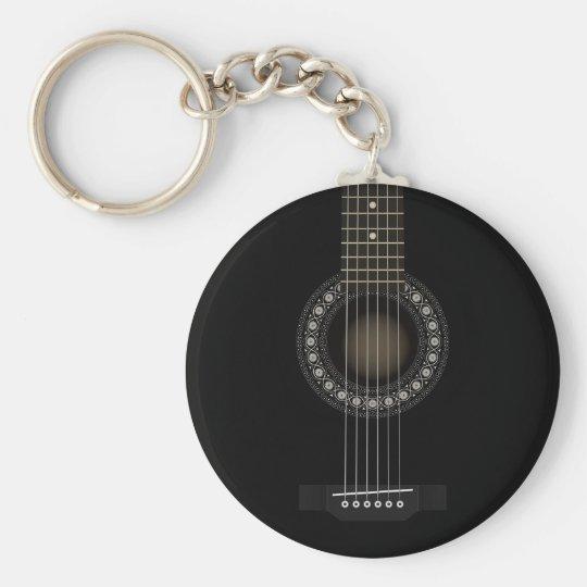 Acoustic Guitar Flag Keychain