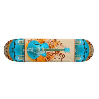 Acoustic Guitar Floral Grunge Vintage 21.6 Cm Skateboard Deck