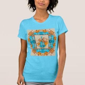 Acoustic Guitar Floral Grunge Vintage T-Shirt