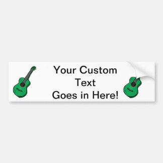 acoustic guitar graphic simple green.png bumper sticker