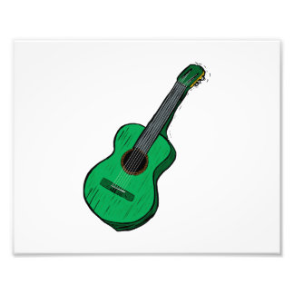 acoustic guitar graphic simple green.png photo print