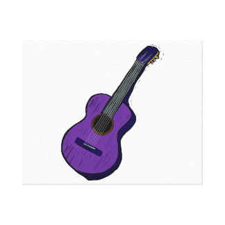 acoustic guitar graphic simple purple.png gallery wrapped canvas