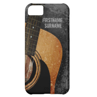 Acoustic Guitar Grey Grunge Custom iPhone 5 Cover For iPhone 5C