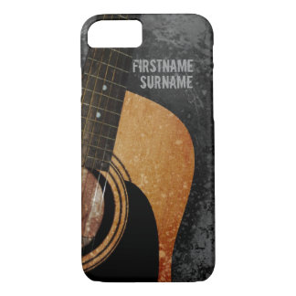 Acoustic Guitar Grey Grunge Custom iPhone 7 case
