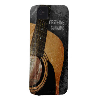 Acoustic Guitar Grey Grunge iPhone 4 Case-Mate iPhone 4 Cases