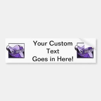 acoustic guitar hand playing purple graphic.png bumper sticker