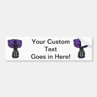 acoustic guitar head purple.png bumper sticker