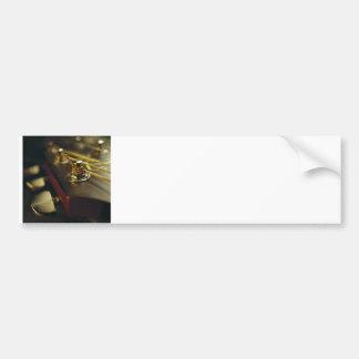 Acoustic Guitar Headstock Close-Up Bumper Sticker
