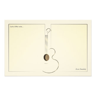 Acoustic Guitar Logo Design Notepaper Stationery
