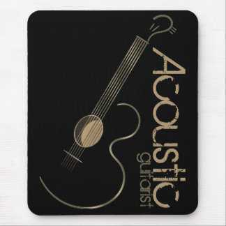 Acoustic Guitar Logo Mousepad
