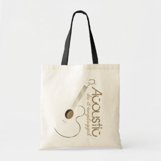 Acoustic Guitar Logo Tote Bags