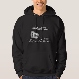 Acoustic Guitar Men's Basic Hooded Dark Sweatshirt